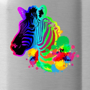 zebra tee shirt - Water Bottle