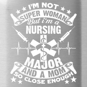 NURSING MAJOR AND A MOM TEE SHIRT - Water Bottle