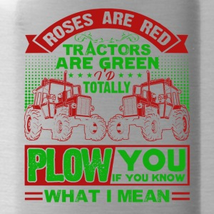 Farmer Roes Are Red Tractor Are Green Shirt - Water Bottle