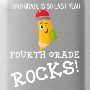third grade is so last year, fourth grade Rocks! - Water Bottle