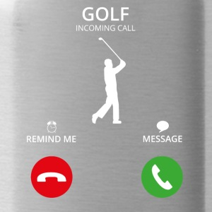 Call Mobile Anruf golf sports golfer caddi - Water Bottle