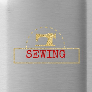 Sewing red gold design - Water Bottle