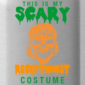 Halloween This My Scary Receptionist Costume - Water Bottle