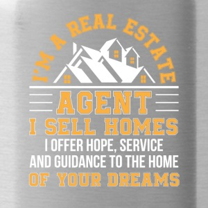 Real Estate Agent Sell Home Hope Service - Water Bottle