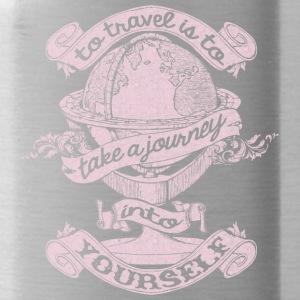 Travel Is To Take A Journey Into Yourself T Shirt - Water Bottle