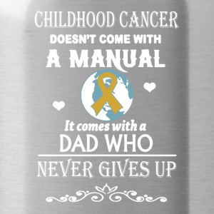 Childhood Cancer Dad Shirt - Water Bottle