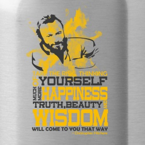 Happiness and Wisdom - Water Bottle