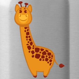 giraffe-jungle-wildlife-cartoon-positive - Water Bottle