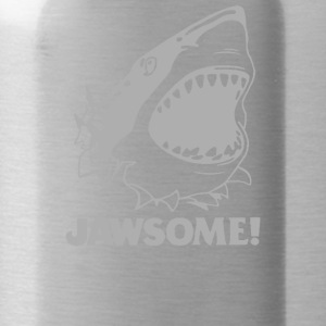 funny vintage soft Jawesome Jaws copy - Water Bottle