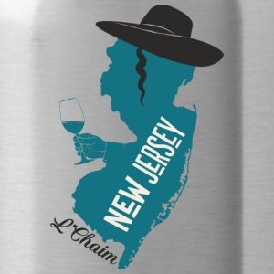 A funny map of New Jersey - Water Bottle