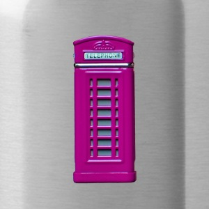 phone booth purple - Water Bottle