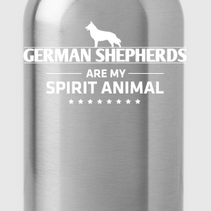 Funny German Shepherd T Shirt German Shepherds Are My Spirit Animal - Water Bottle