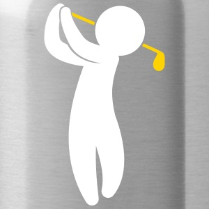 A Golfer Swings His Golf - Water Bottle
