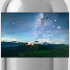 Volcano with the pretty Galaxy - Water Bottle