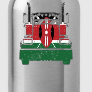 Kenyan Trucker Shirt Kenya Flag T Shirts Trucker Flag Shirt - Water Bottle