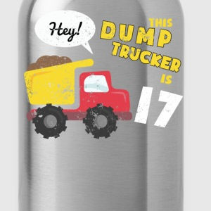 17th Birthday T Shirt Big Dump Truck T Shirt (1) - Water Bottle