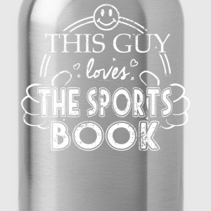Guy Loves The Sports Book - Water Bottle