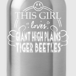 Girl Loves Giant High Plains Tiger Beetles Pet Bug - Water Bottle