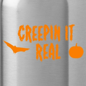 Creepin It Real Halloween Pun! - Water Bottle