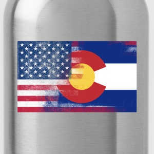 Colorado American Flag Fusion - Water Bottle