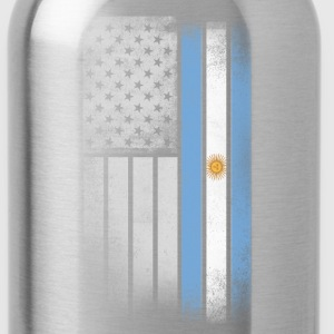 Argentina American Flag - Water Bottle