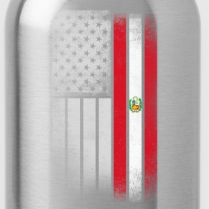 Peruvian American Flag - Water Bottle