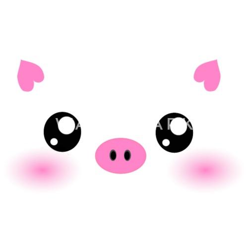 Cute Kawaii Pig Face By Inspirationz