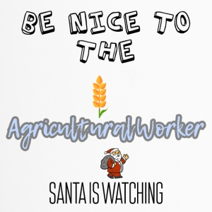 Be nice to the Agricultural worker Santa watching - Travel Mug