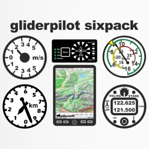 six pack gliderpilot - Travel Mug