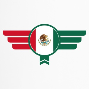 Mexico Badge Emblem Flag - Travel Mug
