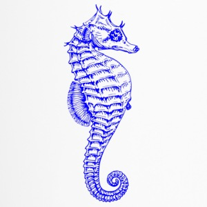 Bright Vibrant Blue Seahorse - Travel Mug