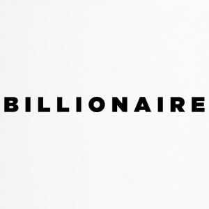 Billionaire - Block Text Design (Black Letters) - Travel Mug