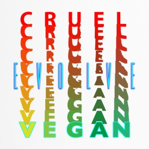 CRUEL —> VEGAN. EVOLVE, - Travel Mug