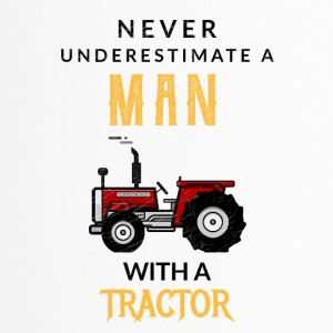 Never underestimate a man with his tractor! - Travel Mug