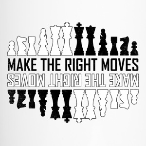 Make the right moves Chess Checkmate Chess Board - Travel Mug