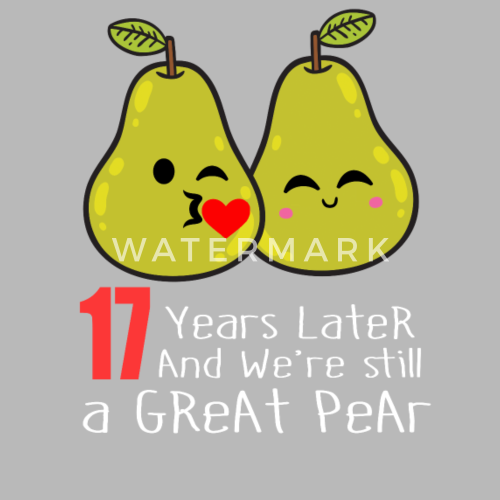 17Th Wedding Anniversary | 17th Wedding Anniversary Funny Pear Couple Gift Travel Mug Spreadshirt