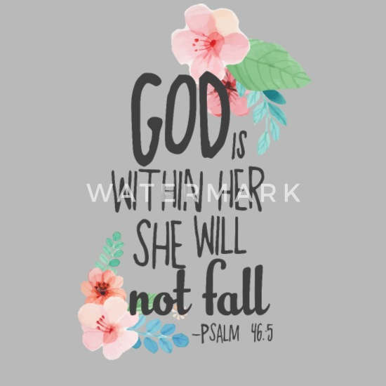 bible inspirational quotes god in her not fall travel mug