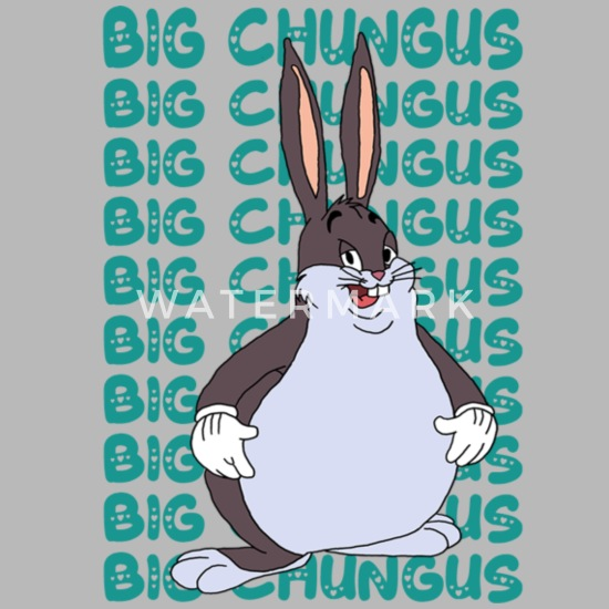 Funny Big Chungus Meme Lovers Fat Rabbit Travel Mug Spreadshirt