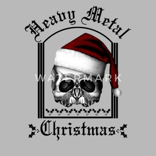 heavy metal christmas by bertles spreadshirt - Heavy Metal Christmas