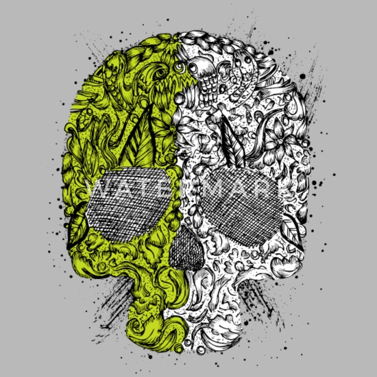 Abstract Skull Streetwear Cool Vector Image Sketch Travel