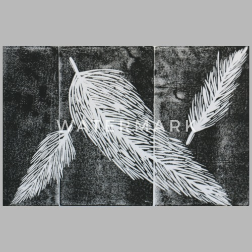 ink print falling feathers by spreadshirt