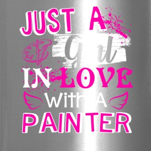 Girl In Love With A Painter Shirt - Travel Mug