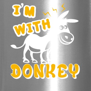 I'm With Donkey Shirt - Travel Mug
