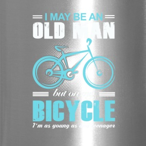 Old Man Bicycle T-shirt - Travel Mug