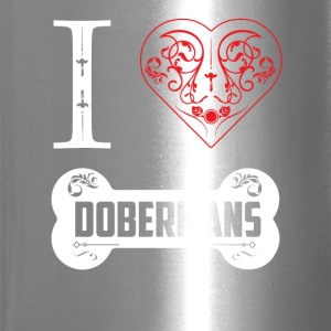 Doberman I Heart Dobermans Bone Ornaments - Travel Mug