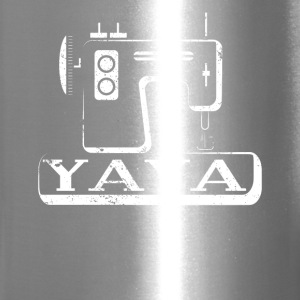 Yaya Shirt Greek Grandma Home Sewing Machine Shirt - Travel Mug