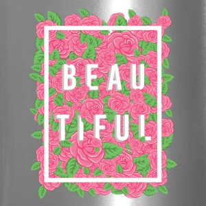 Beautiful Typography Roses - Travel Mug