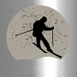 Skiing Full Moon - Travel Mug