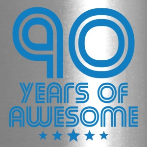 90 Years Of Awesome 90th Birthday - Travel Mug