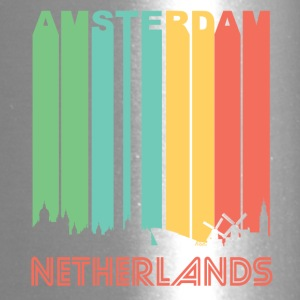 Retro Amsterdam Skyline - Travel Mug